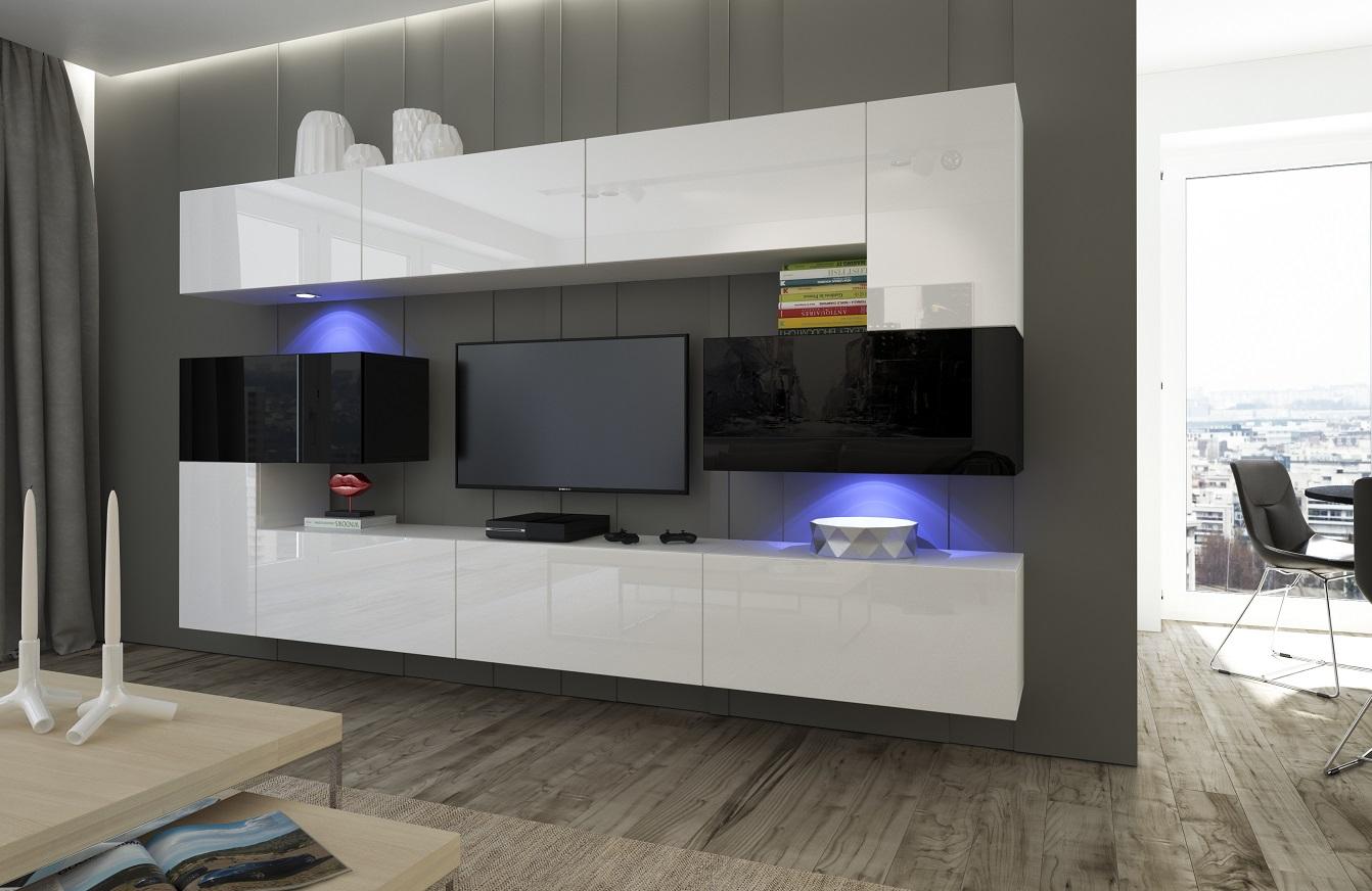 Haus & Garten :: Möbel :: Wohnzimmer-Set 10 Einzelteile Anbauwand ...