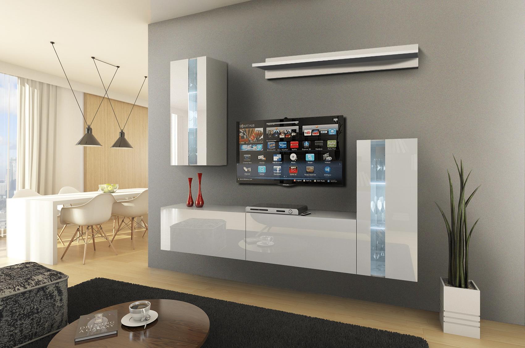 Future 15, Modernes Wohnzimmer, Wohnwände, Wohnschränke, Schrankwand, Möbel