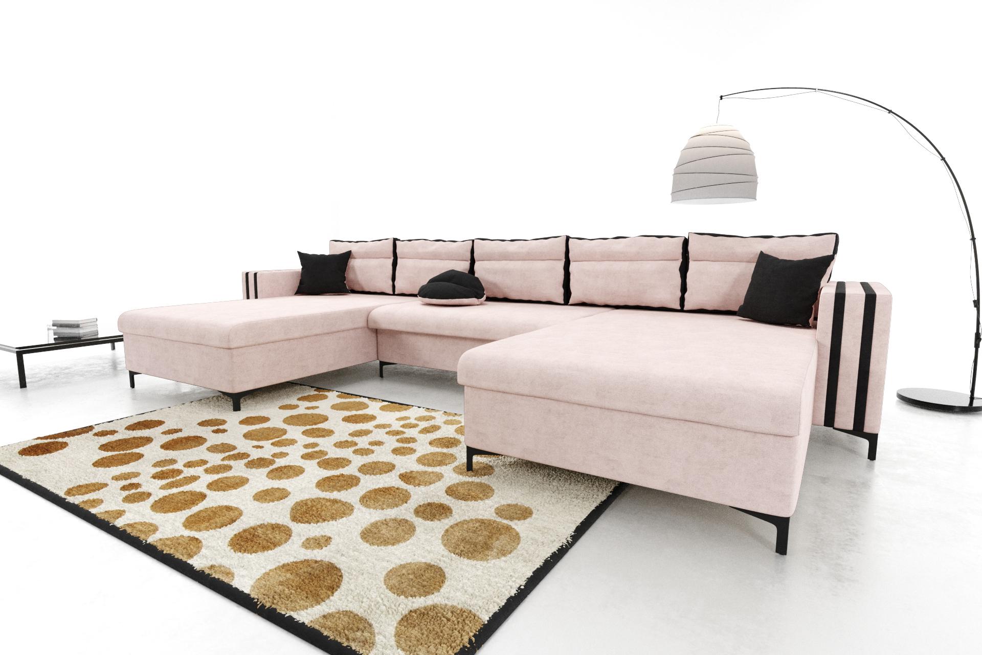 Modernes Wohnzimmer Ecksofa Eckcouch Sofa mit Bettkasten ...